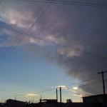 De nuevo la mitad del cielo está negro
