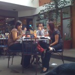 Almorzando en San Martin