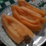 Buen plato de melón para el desayuno