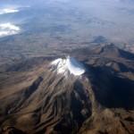 Popocatepetl desde el avión