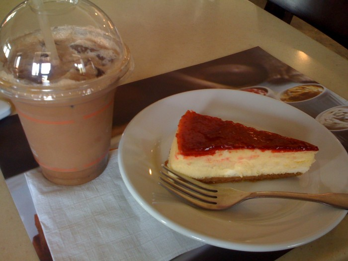 mocca y cheesecake