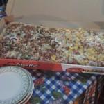 Medio metro de pizza