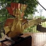 Escultura con la forma de Guatemala