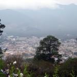 Vista hacia la Antigua Guatemala desde el Cerro
