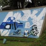 Mural en granito de La Guatemalita - Comunicación