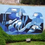 Mural en granito de La Guatemalita - Educación