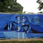Mural en granito de La Guatemalita