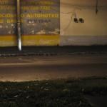 Calle con arena de la lluvia