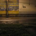 La calle ya sin tanta arena luego de más lluvia