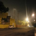 Polvo por la arena volcánica en la ciudad