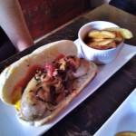 Hotdog con salchicha alemana