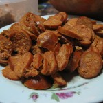 Chorizos en rodajas
