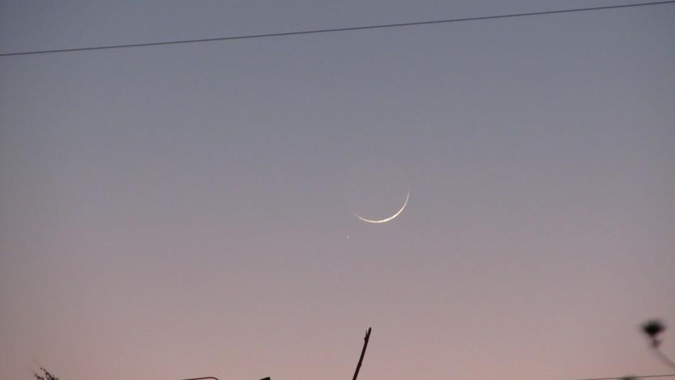 La luna y marte