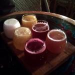 Muestras de varios sabores de cerveza