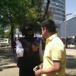 Fuck, un tipo disfrazado de mono nos entrevistó