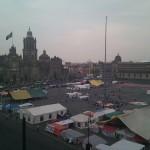Genial vista al Zócalo