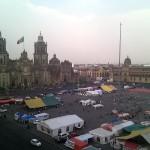 Campamentos del SME en el Zócalo