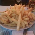 Volcán de papas fritas