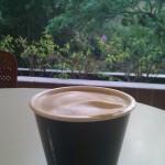 Mi café lo tomaré en el jardín