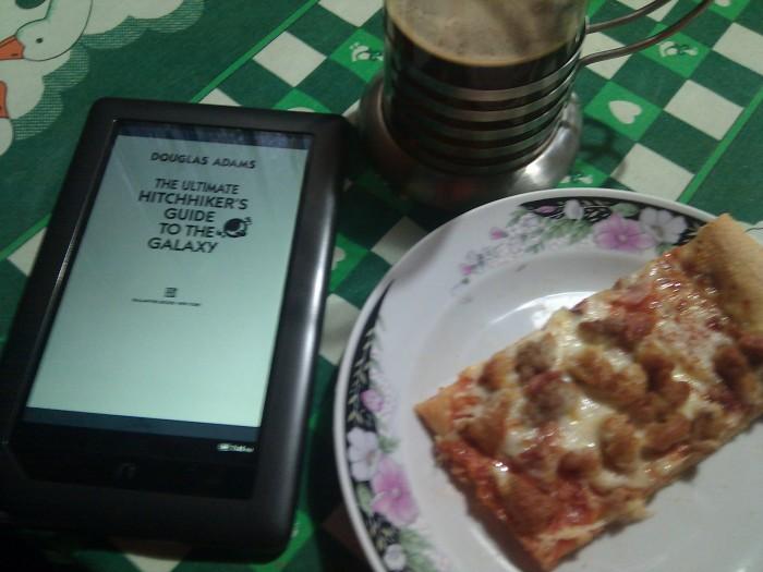 Pizza, ebook y café