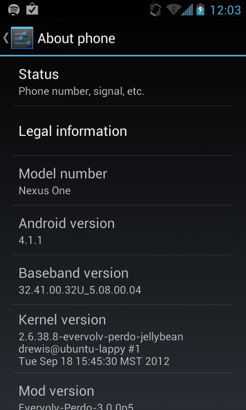 Nexus One con Jelly Bean