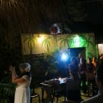 @luckysilva lanzando el ramo