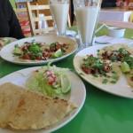 Quesadilla, tacos al pastor y horchata…. hasta pareciera que ando en México