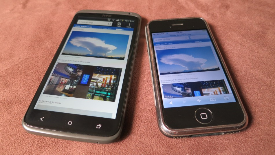 5 years apart: HTC One X and the original iPhone