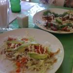 Huarache y tacos al pastor