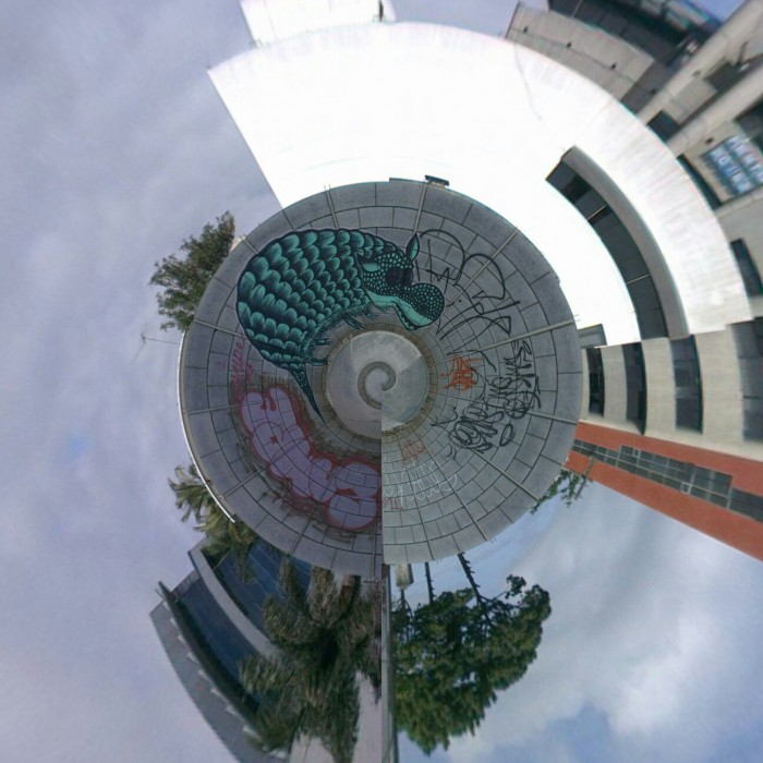 Tiny Planet - Graffiti @ Zona 10