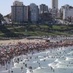 Así están las playas de Mar del Plata