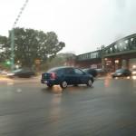 De soleado y caluroso, pasó a fuertes lluvias en Buenos Aires