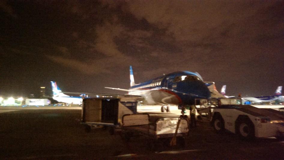Vuelo nocturno a Mar del Plata desde el Aeroparque