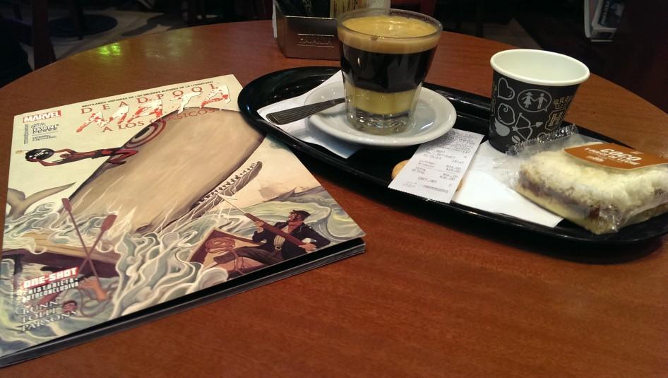 Comic de Deadpool y Café Havanna