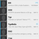 SMS Spam (Tigo Guatemala)