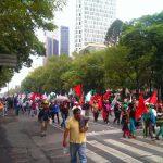 Hoy en la marcha diaria por reforma …