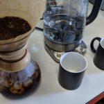 Café frío en la oficina