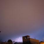 Tormenta eléctrica al suroeste de la ciudad