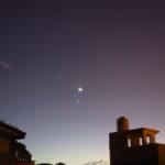 Saturno, la Luna, Venus y Júpiter