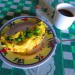 Buenos días, creo que a mi omelette le puse mucho relleno 😂