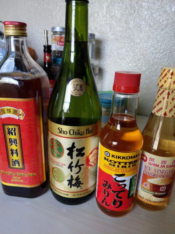 Sake, Mirin, vinagre de arroz y Shaoxing