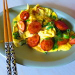 Intentando hacer huevos revueltos estiló Cantonés